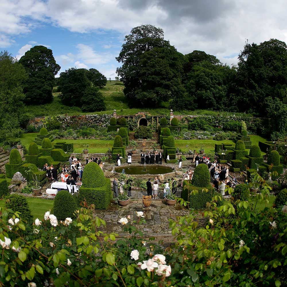 Mapperton's Italianate garden - Dorset wedding venue