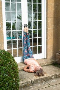 Legs Up The Wall - yoga poses to increase blood flow on your wedding day