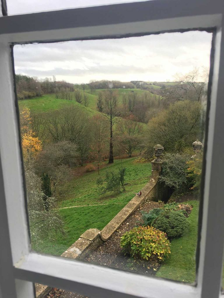 View from a window of the Garden Cottage