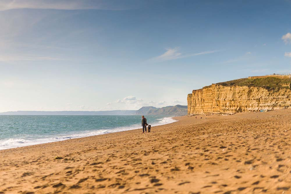 Beach Walk At Burton Bradstock