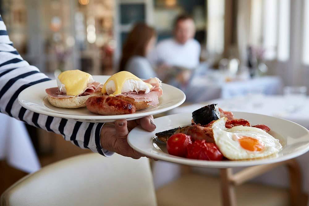 Breakfast At The Seaside Boarding House In Burton Bradstock