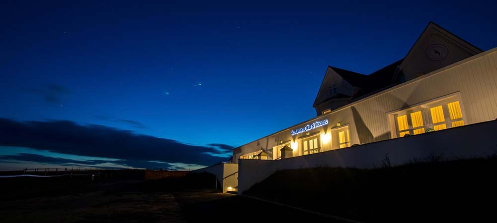 Night Time At The Seaside Boarding House In Burton Bradstock