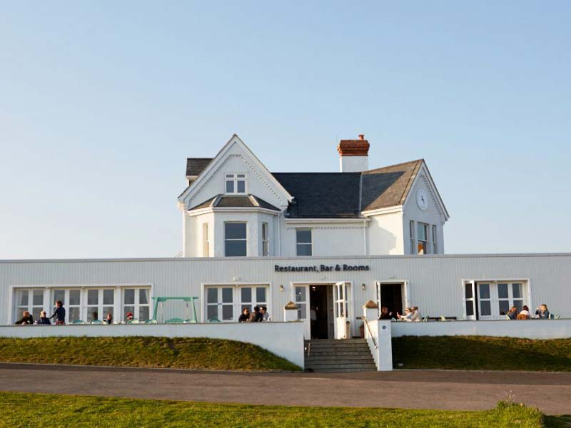 Exterior of the Seaside Boarding House in Burton Bradstock