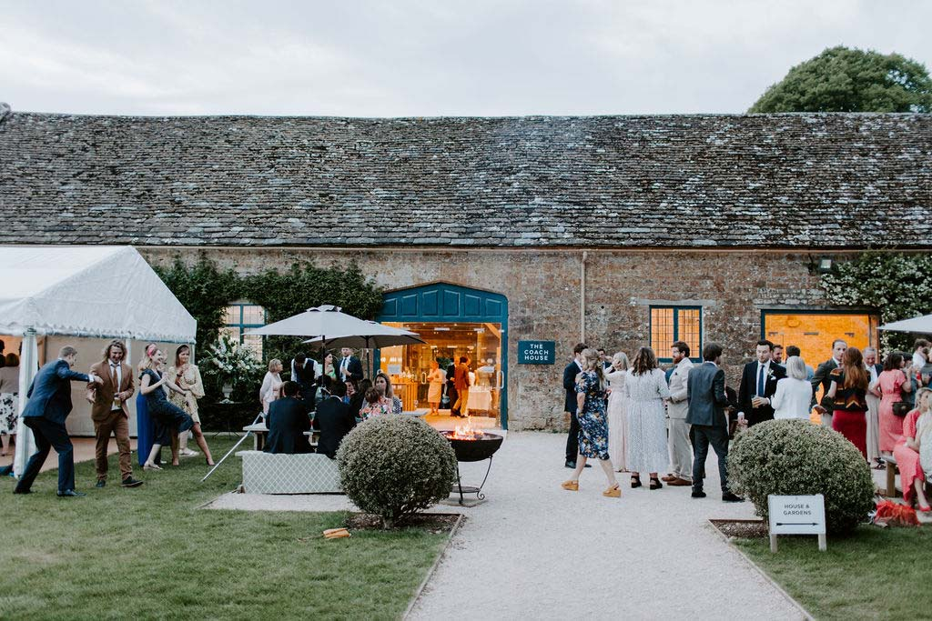 Mapperton Wedding outside The Coach House